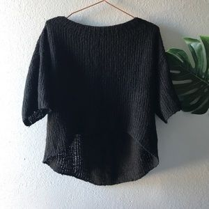 Zara knit black lightweight sweater.